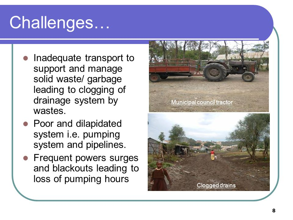 9 UN-Habitats immediate interventions in Homa bay Water infrastructure Increased water production by 210 m 3 /hr – installed 4 new water pumps at New lake intake, old lake intake and Booster stations Improved treatment efficiency and reduction of water losses by replacement of leaking valves and filter media at the old treatment works Increase water accessibility at low income areas by construction of 2 No.