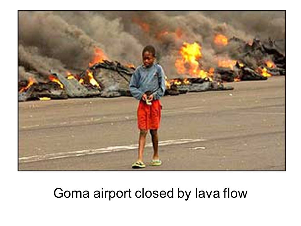 Goma airport closed by lava flow