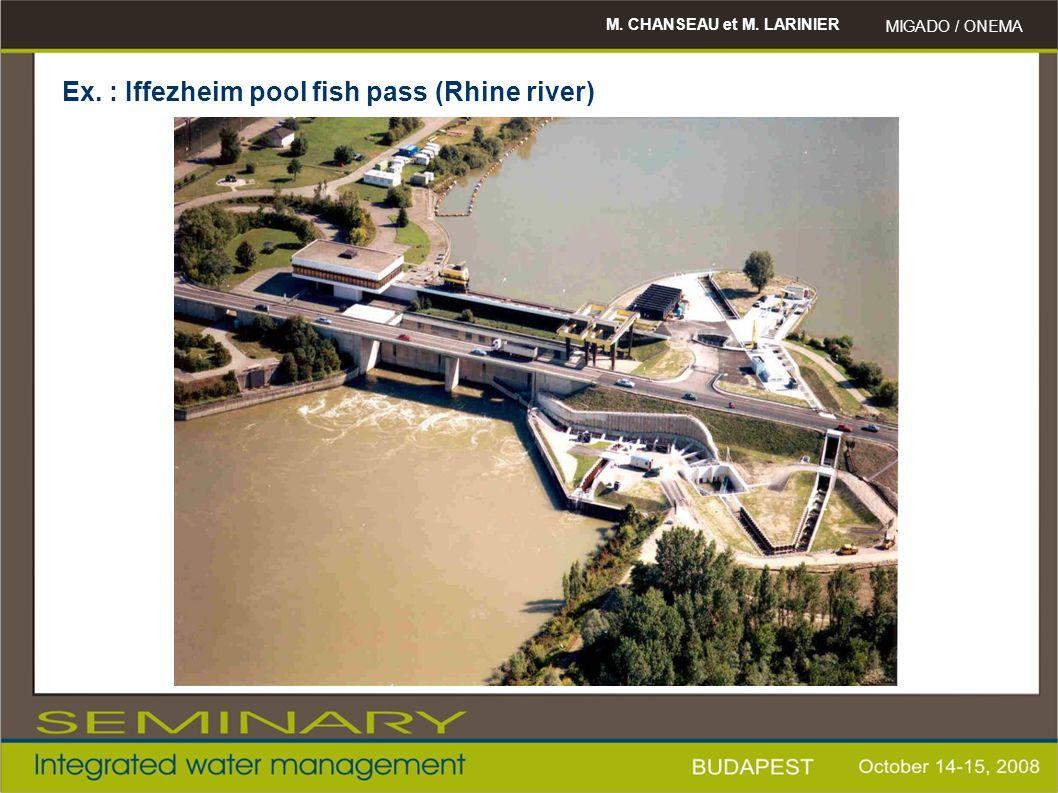 M. CHANSEAU et M. LARINIER MIGADO / ONEMA Ex. : Iffezheim pool fish pass (Rhine river)