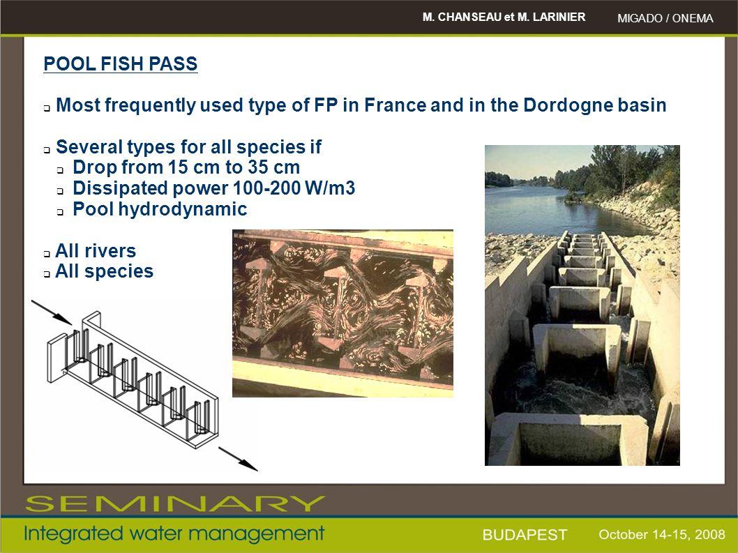M. CHANSEAU et M. LARINIER MIGADO / ONEMA Tuilieres eel fish pass (Dordogne river) - 1997 