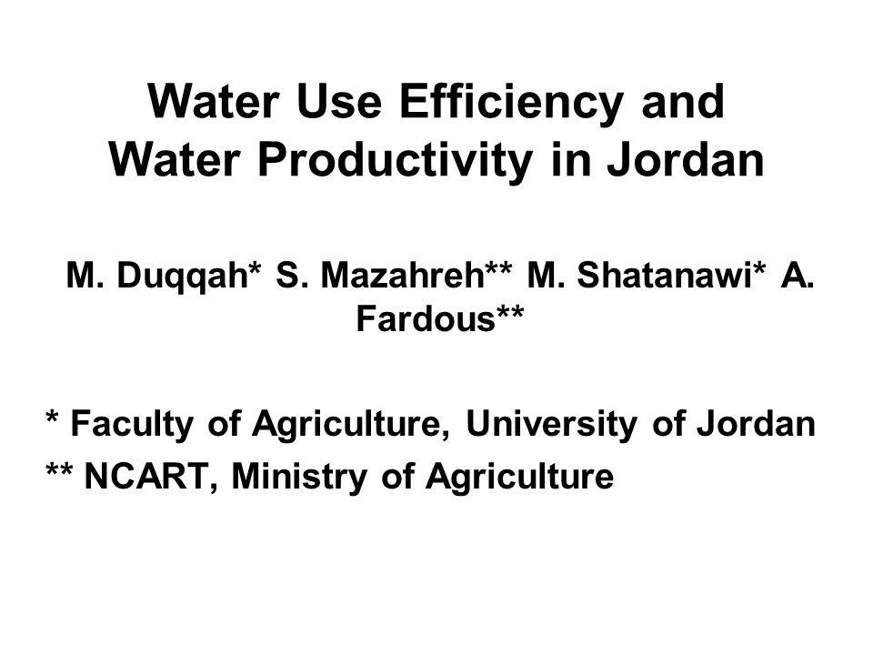 Water Productivity Oweis, et al.