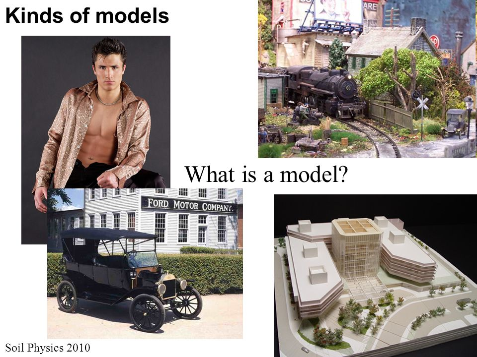 Kinds of models What is a model Soil Physics 2010
