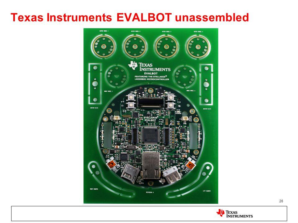 Texas Instruments EVALBOT unassembled 26