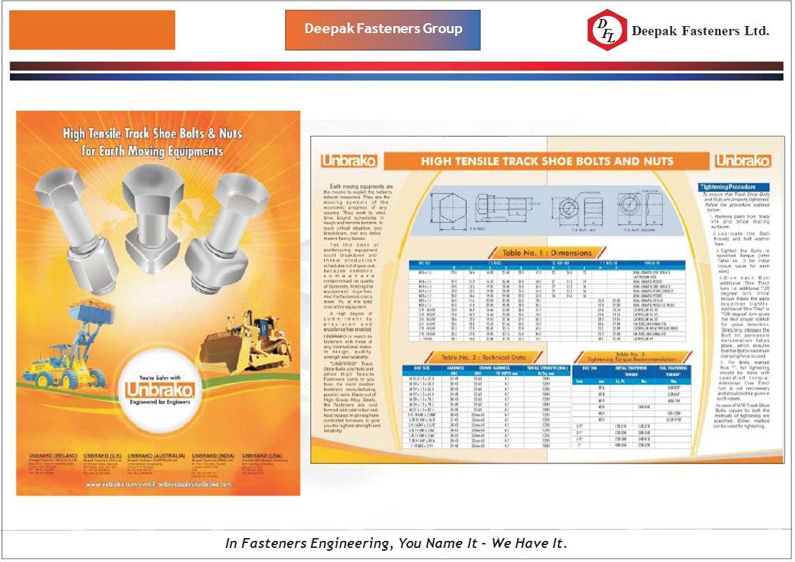 D F L Deepak Fasteners Group In Fasteners Engineering, You Name It - We Have It. Deepak Fasteners Ltd.
