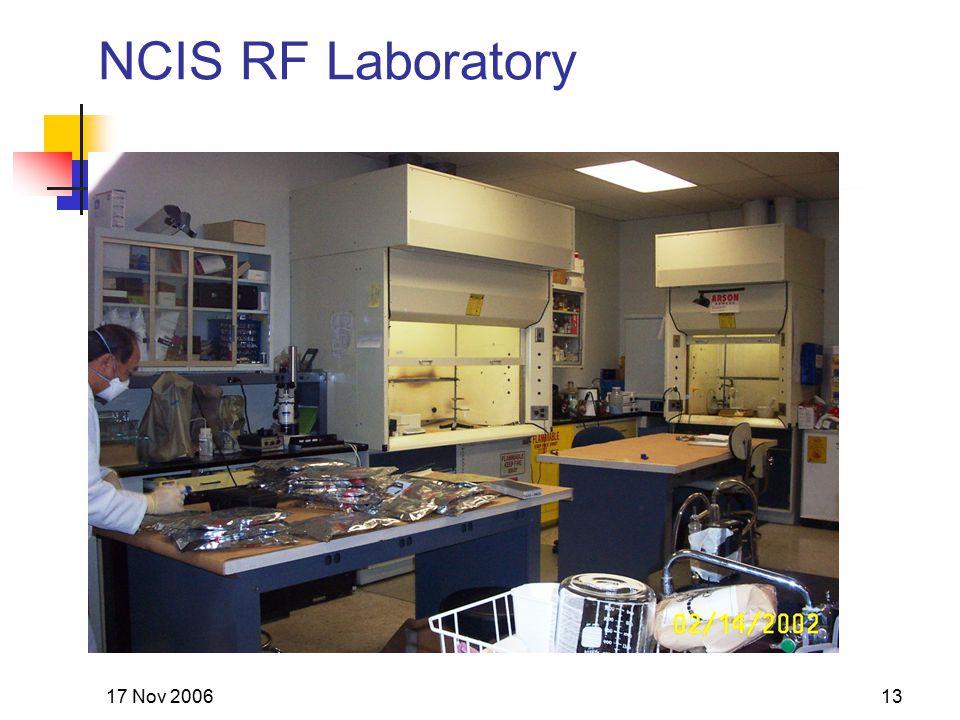 17 Nov 200613 NCIS RF Laboratory