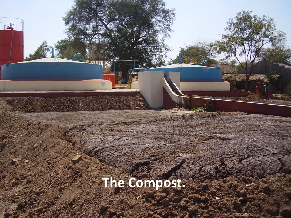The Slurry being transported to composting pits.