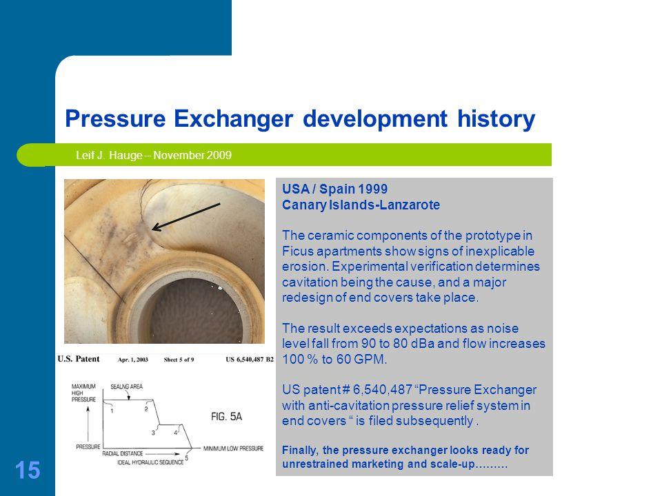 15 Pressure Exchanger development history Leif J.