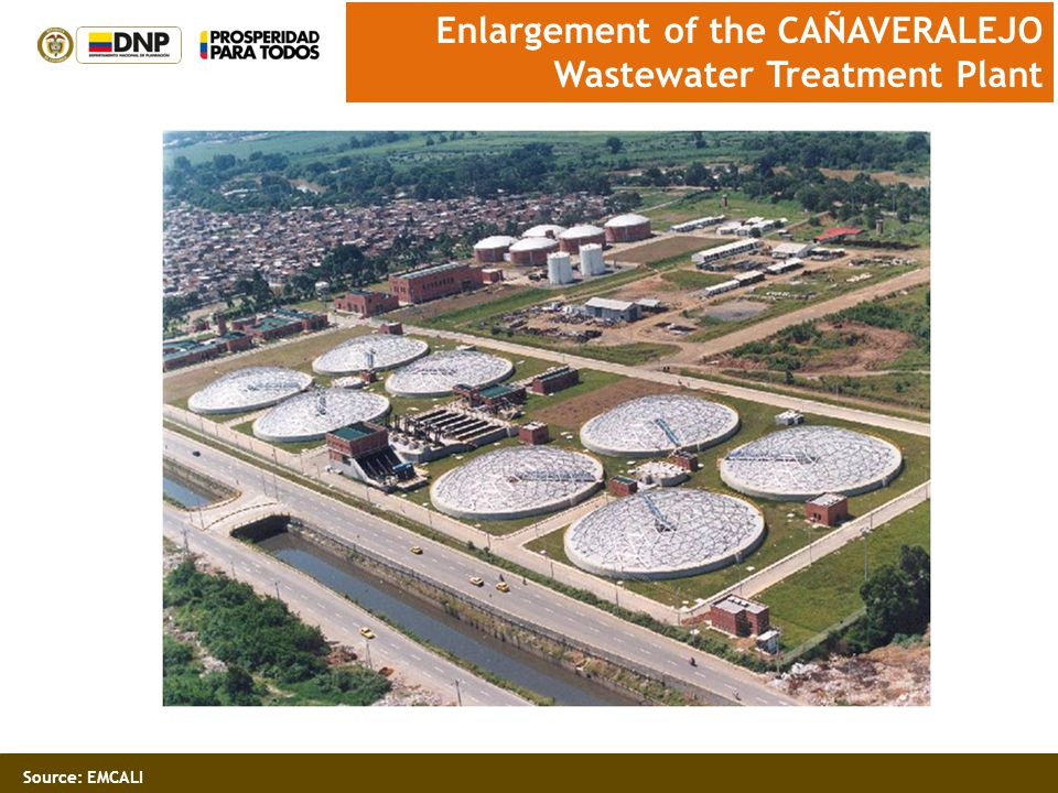 Source: EMCALI Enlargement of the CAÑAVERALEJO Wastewater Treatment Plant