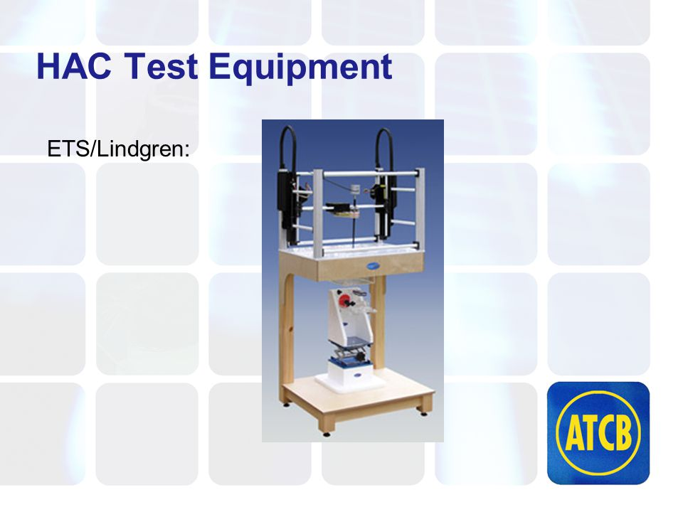 HAC Test Equipment ETS/Lindgren: