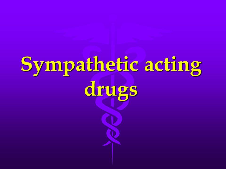 Sympathetic acting drugs