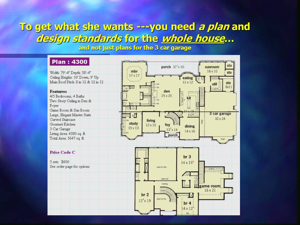 Do you think she would be interested in having a say in the layout/color scheme & when & if we finish the 1st floor