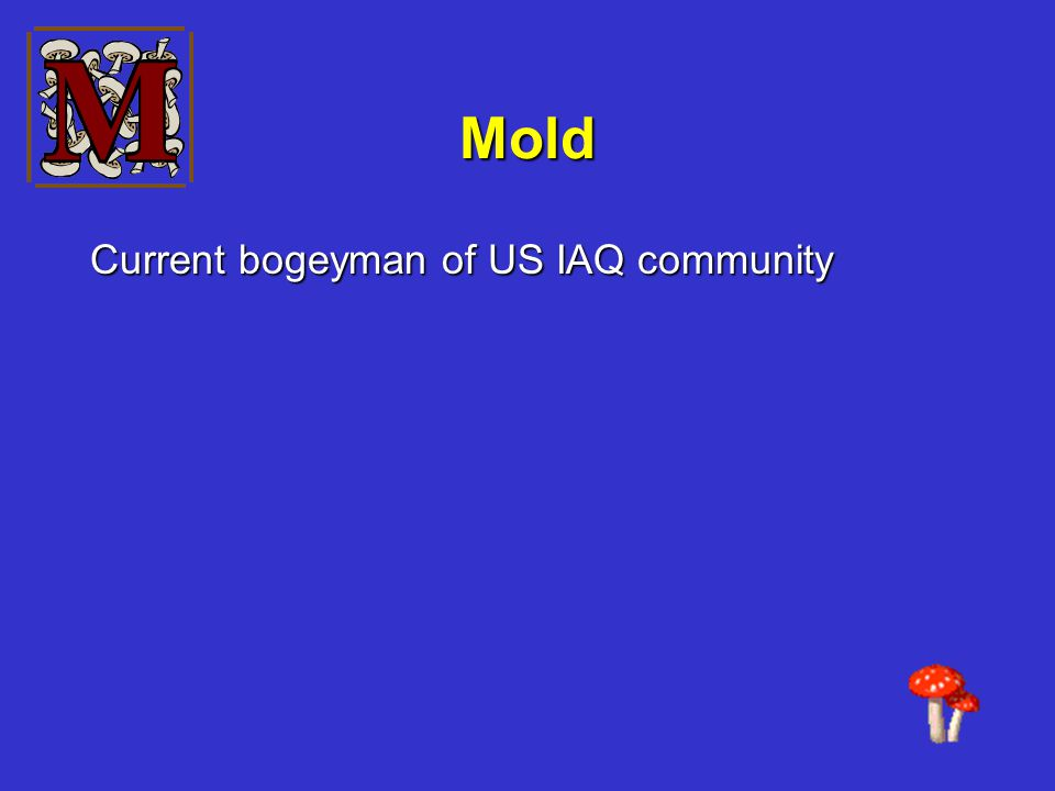 Mold Current bogeyman of US IAQ community