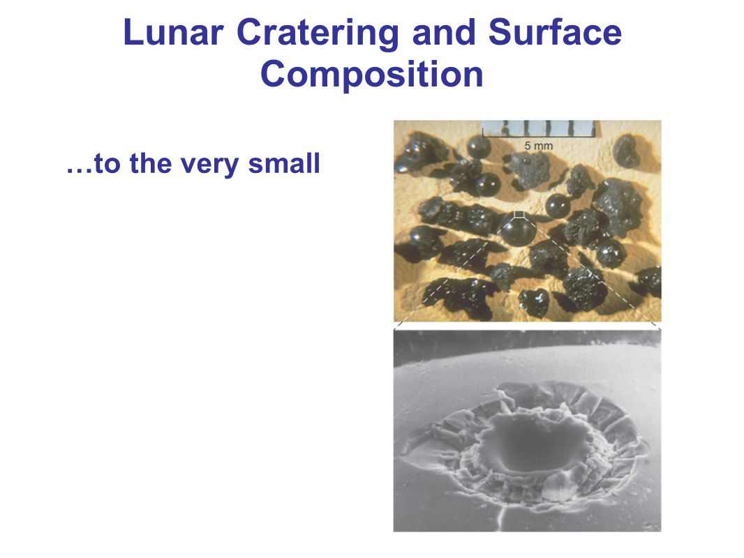 Lunar Cratering and Surface Composition …to the very small