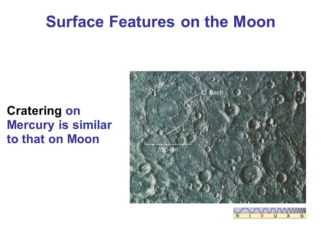 Cratering on Mercury is similar to that on Moon Surface Features on the Moon