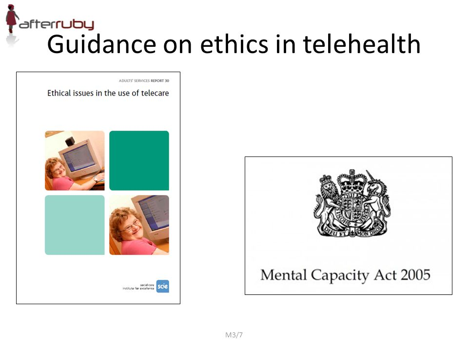 M3/7 Guidance on ethics in telehealth