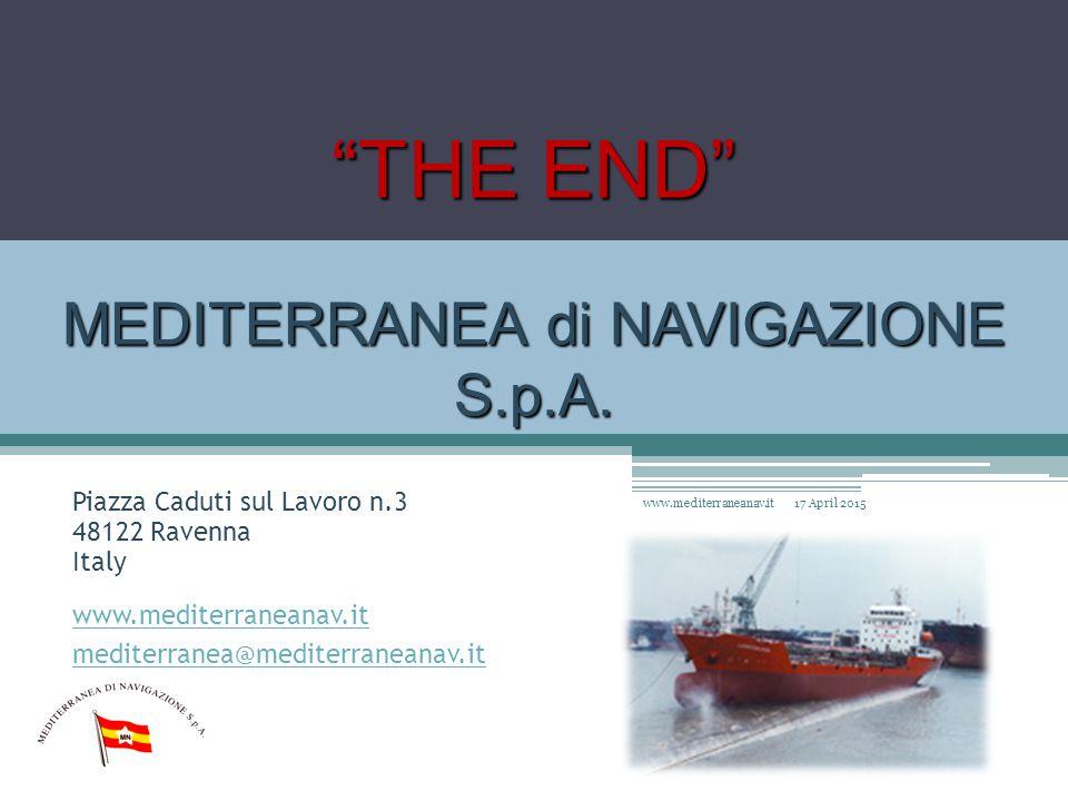 THE END MEDITERRANEA di NAVIGAZIONE S.p.A.