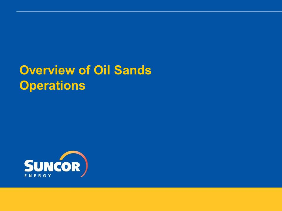Growing a Sustainable Energy Company – Suncor's Experience