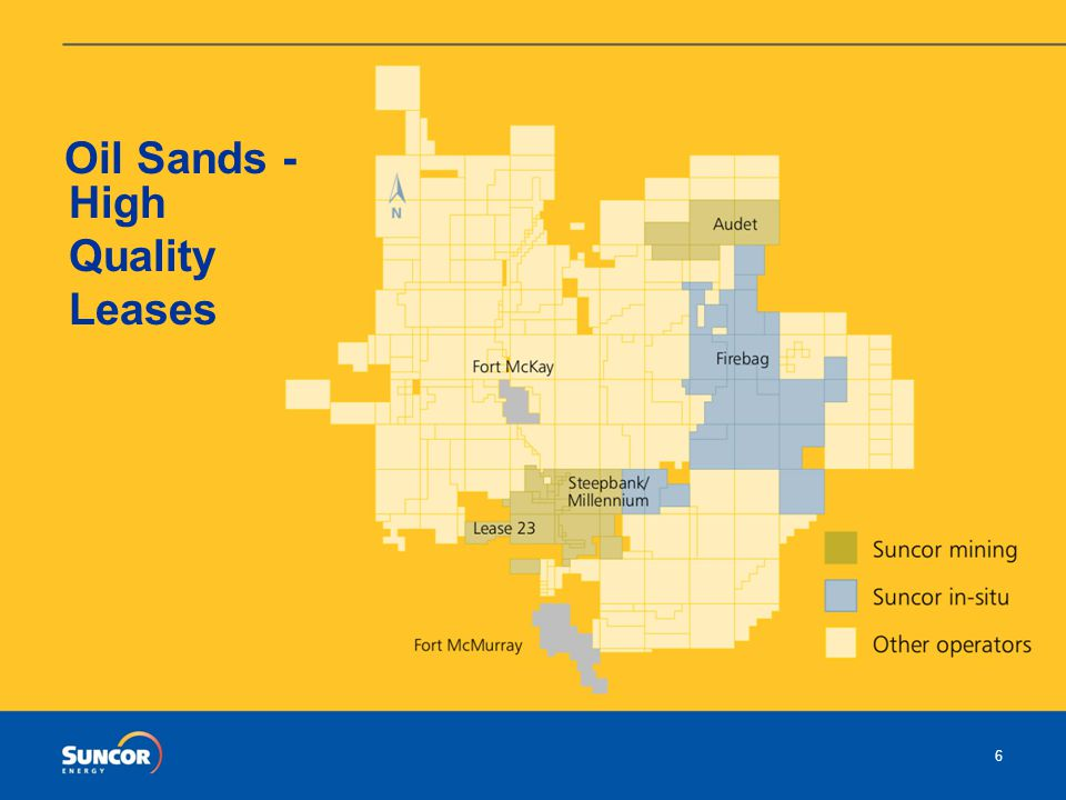 The Canadian Oil Sands – Suncor's Experience Suncor's vision of sustainability Suncor's vision is to be a unique and sustainable energy company, dedicated to vigorous growth by meeting the changing expectations of our current and future stakeholders.