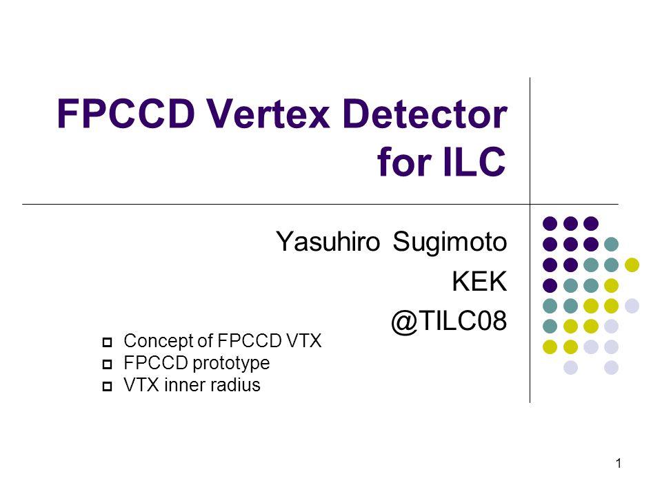 1 FPCCD Vertex Detector for ILC Yasuhiro Sugimoto KEK @TILC08  Concept of FPCCD VTX  FPCCD prototype  VTX inner radius