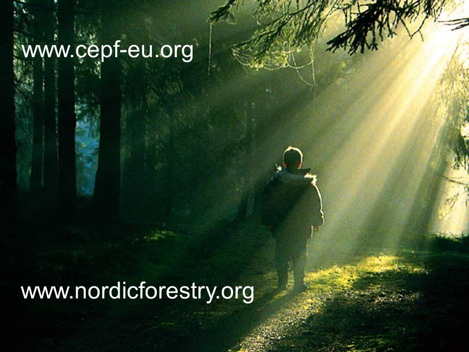 www.nordicforestry.org www.cepf-eu.org