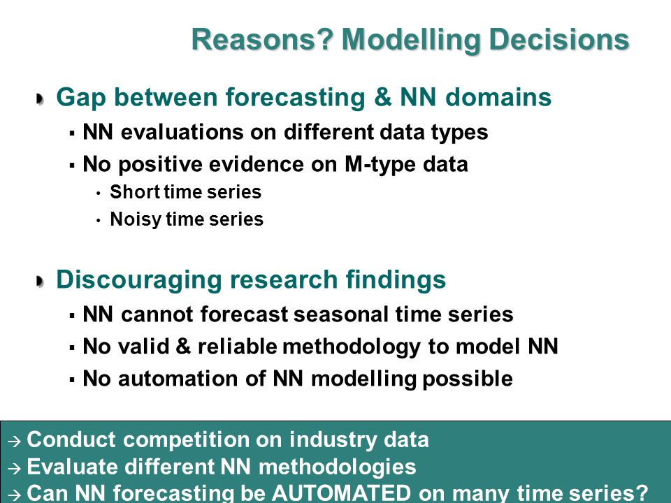  Can NN modelling be automated for business forecasting.