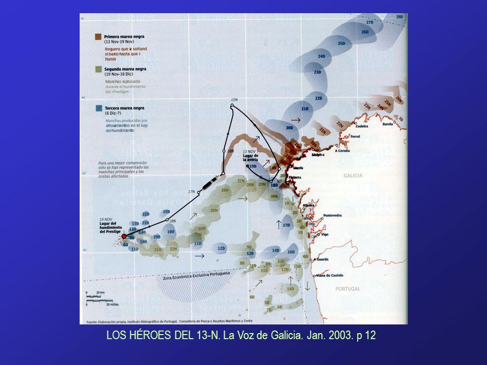 www.lavozdegalicia.es LOS HÉROES DEL 13-N. La Voz de Galicia. Jan. 2003. p 12