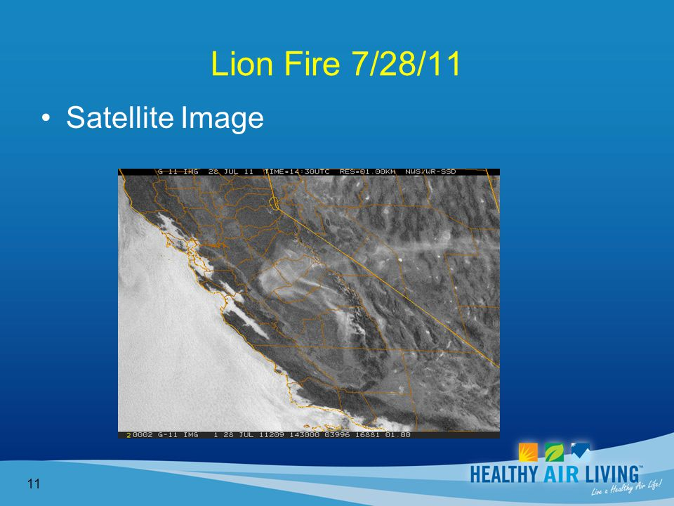 Lion Fire 7/28/11 11 Satellite Image