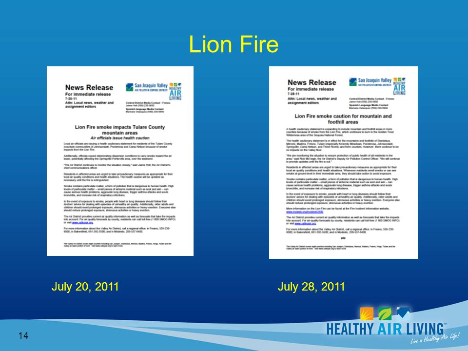 Lion Fire 14 July 20, 2011 July 28, 2011