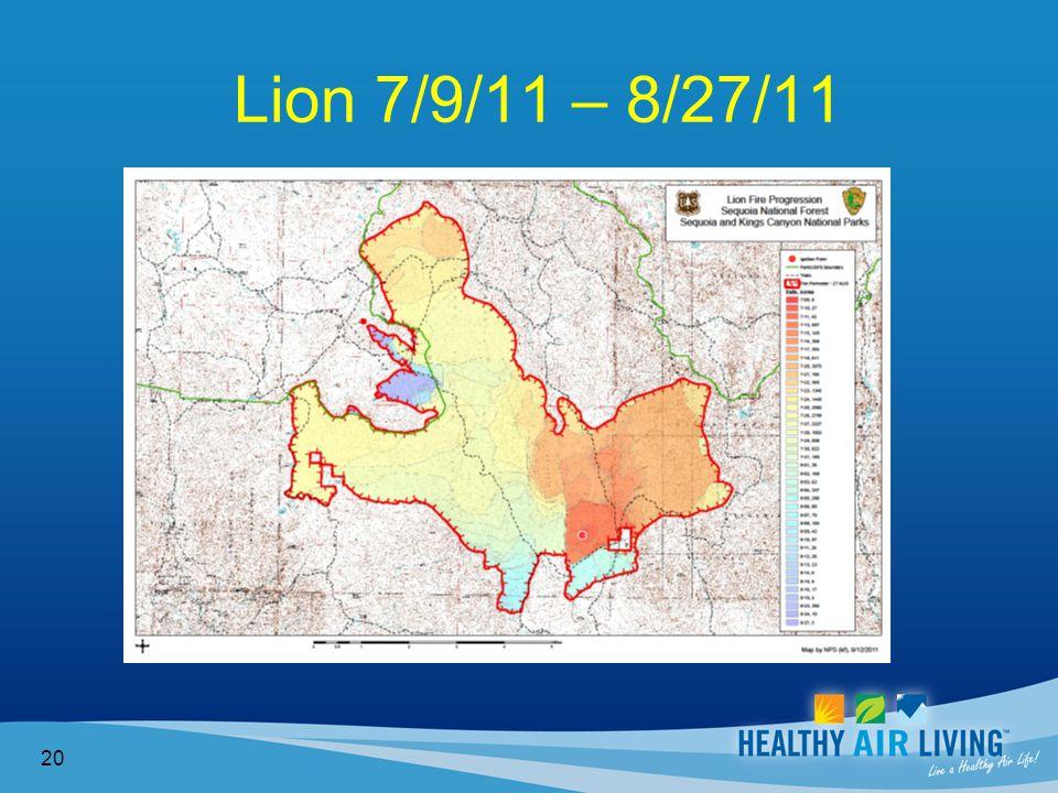 Lion 7/9/11 – 8/27/11 20