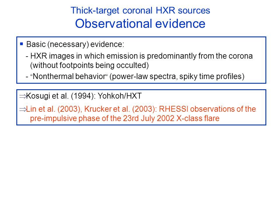 23rd July 2002 X4.8 flare Pre-impulsive nonthermal coronal HXR source Lin et al.
