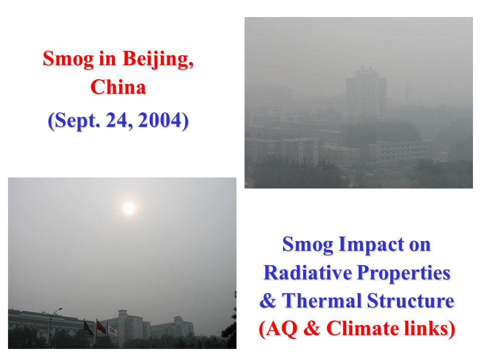 Smog in Beijing, China (Sept.