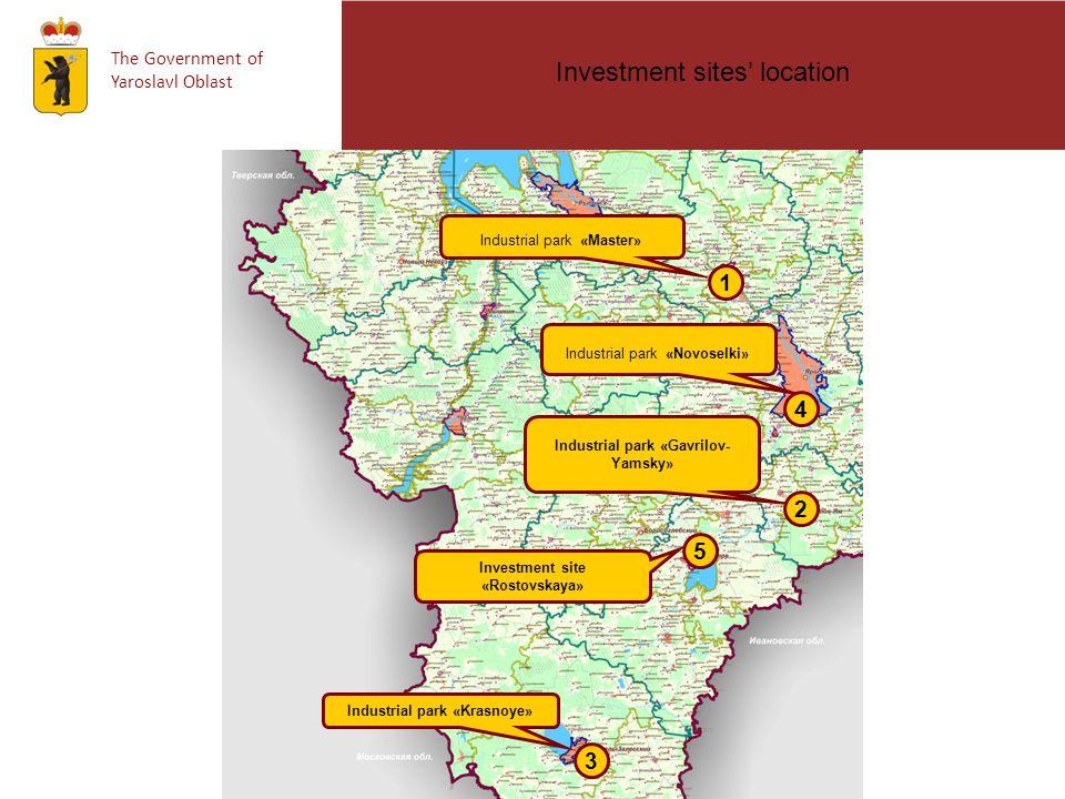 The Government of Yaroslavl Oblast Париж Industrial park «Master» 1 2 3 Industrial park «Krasnoye» Industrial park «Gavrilov- Yamsky» Investment sites