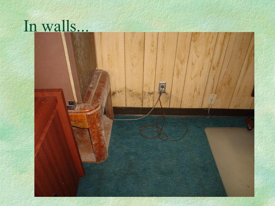 In walls...