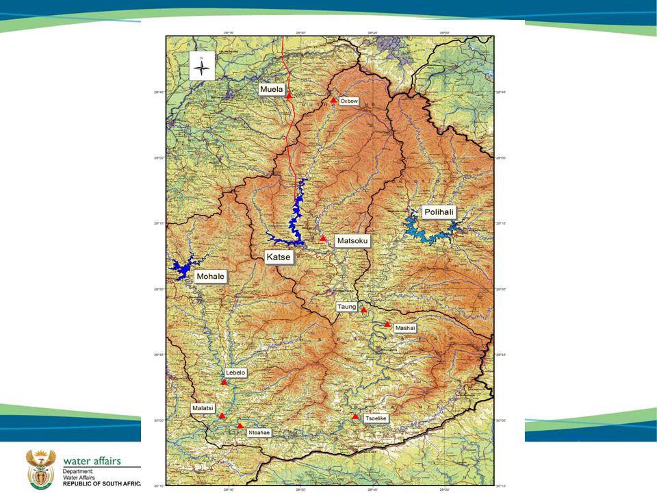 Yield analysis - Polihali Dam yield ( MOL 1992, FSL 2065) viewed in isolation: – 14,75 m 3 /s 465mil.