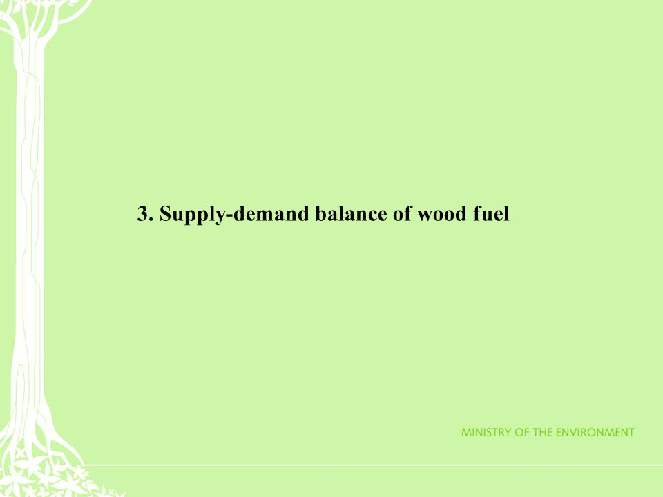 3. Supply-demand balance of wood fuel