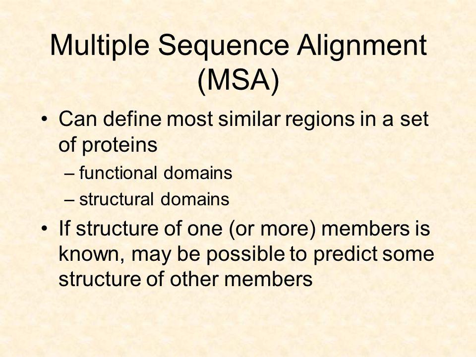Hidden Markov Models Probabilistic model of a Multiple sequence alignment.