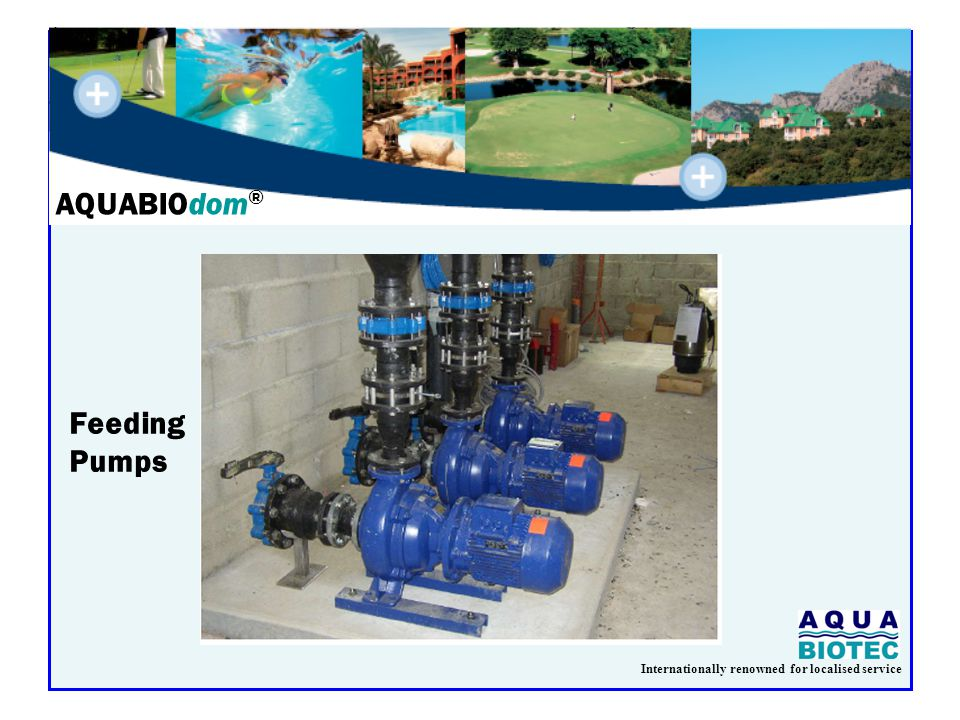 Internationally renowned for localised service AQUABIOdom ® Feeding Pumps