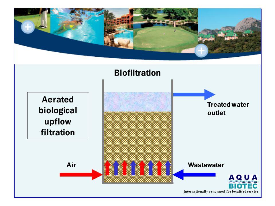 Internationally renowned for localised service Biofiltration Backwash tank Feeding pumpAir compressor 3 to 4 m 6 m