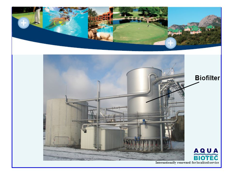 Internationally renowned for localised service M² /PE Biofiltration Activated Sludge 0,05 0,15 0,20 0,30 Specific Space Requirement Biofiltration – Activated Sludge