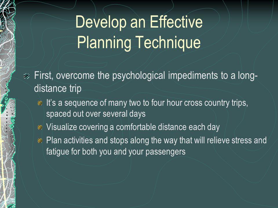 Develop an Effective Planning Technique