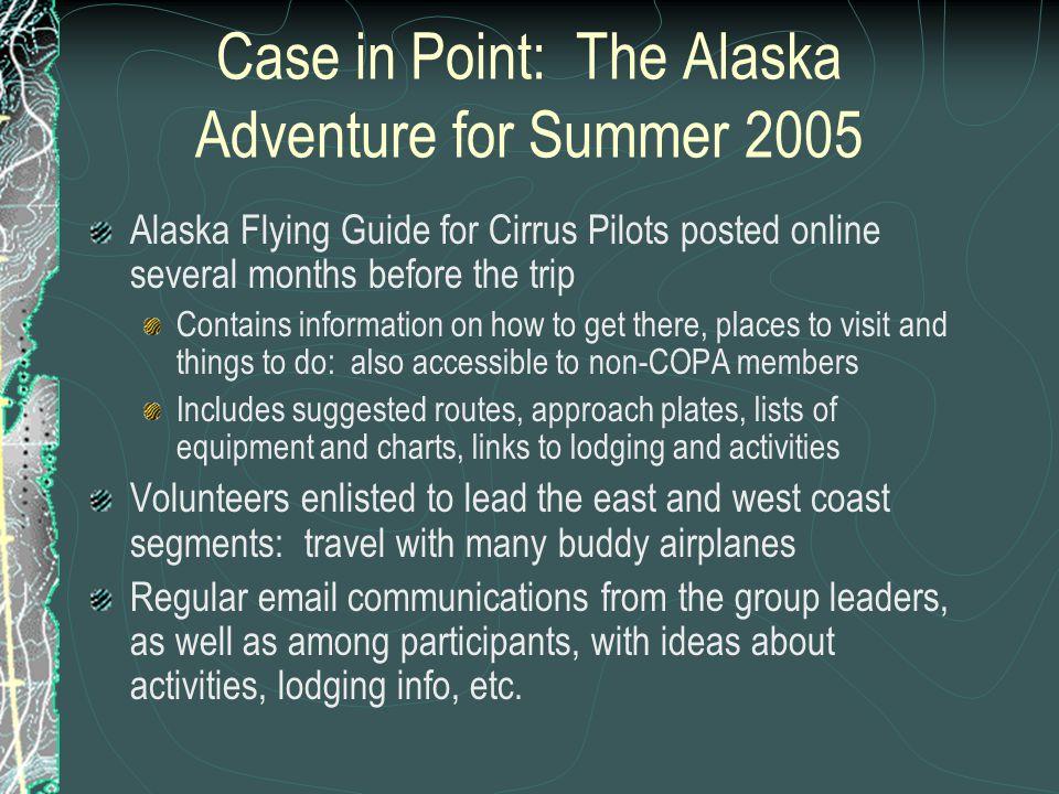 Screen shot of Alaska Flying Guide home page (www.cirruspilots.org/public/alaska)