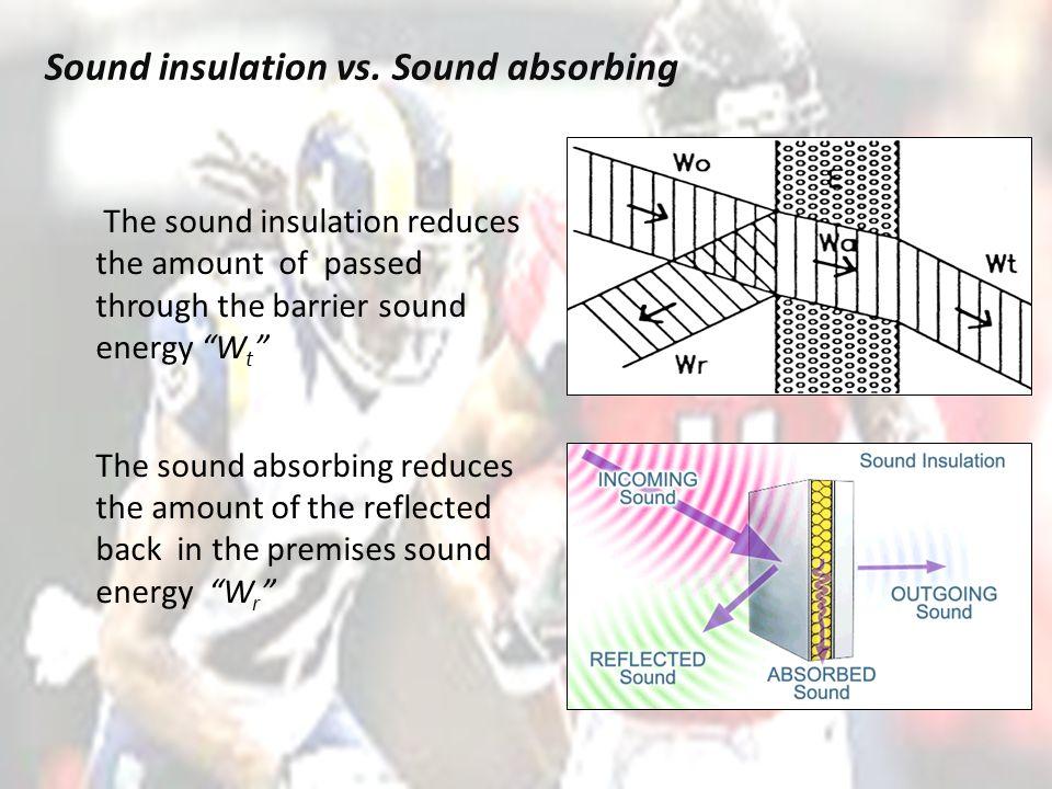 Sound insulation vs.