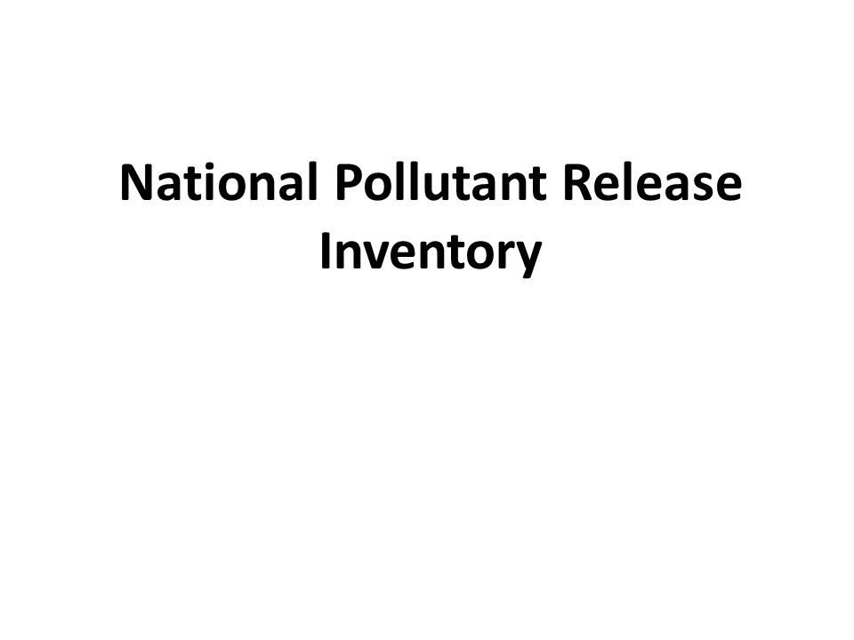 National Pollutant Release Inventory