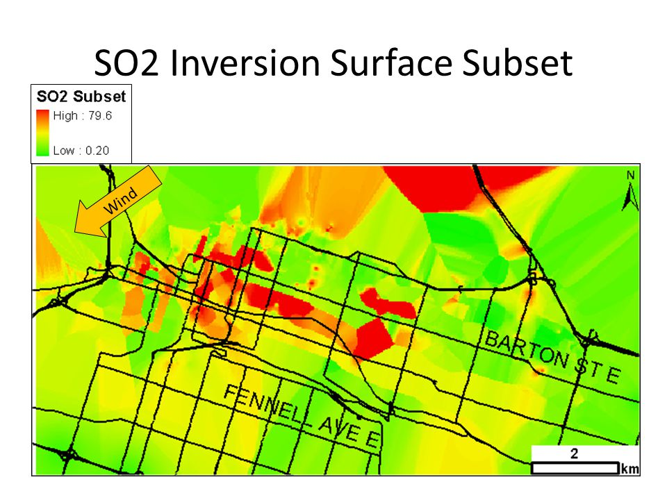 SO2 Inversion Surface Subset Wind