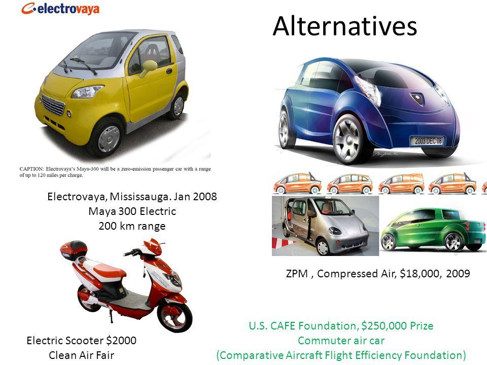 Alternatives ZPM, Compressed Air, $18,000, 2009 U.S.