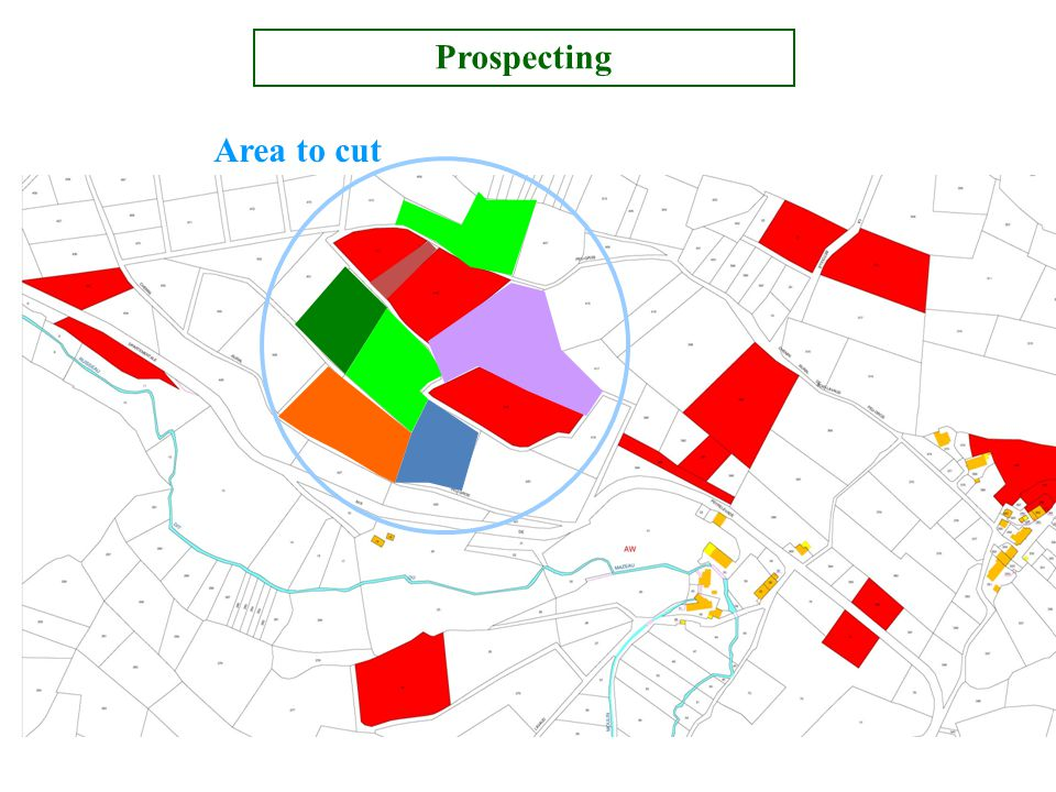 Area to cut Prospecting
