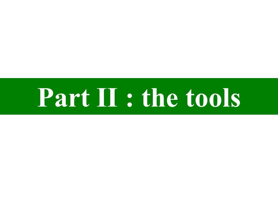 Part II : the tools