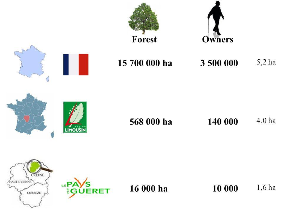 568 000 ha140 000 16 000 ha 10 000 ForestOwners 3 500 00015 700 000 ha 5,2 ha 4,0 ha 1,6 ha