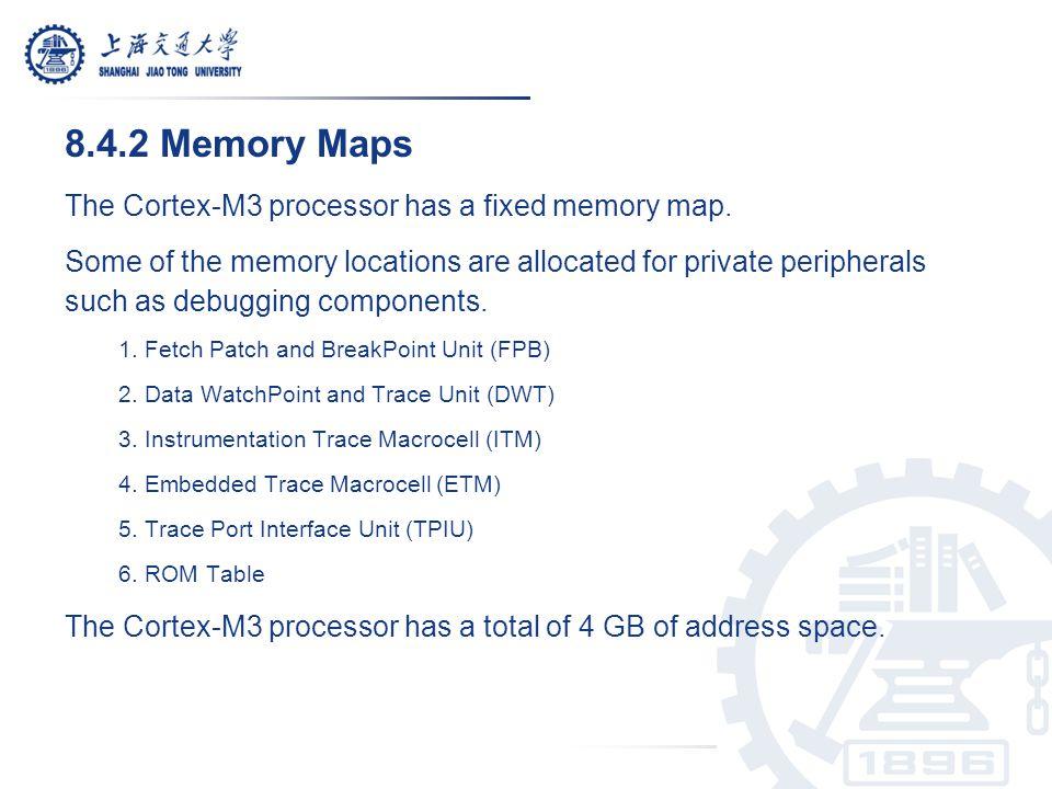 A Cortex-M3 Predefined Memory Map