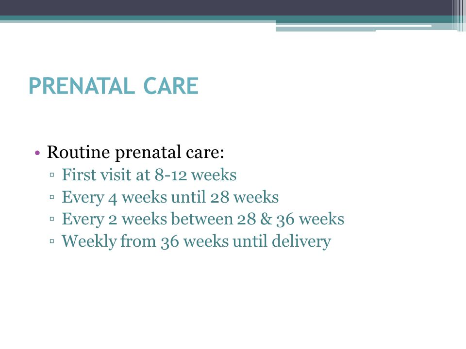 PRENATAL CARE – 1 st VISIT (NOB) History GYN history ▫Menstrual (LMP) ▫Contraceptive use ▫Pap hx ▫STI hx OB history ▫Pregnancies (G __ P __) ▫Deliveries (term or preterm) ▫Abortions (spontaneous or induced) ▫Complications Medical/surgical history Family history Social history ▫FOB ▫Domestic violence ▫Alcohol, drugs, tobacco ▫Education ▫Employment ▫Language spoken (need for interpreter)
